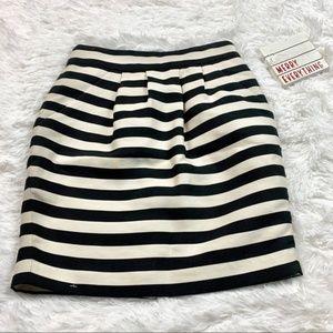 Banana Republic Black & White Stripe Shimmer Skirt